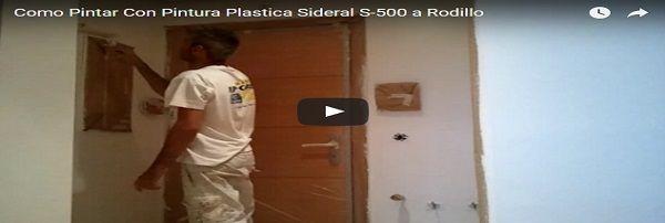 Como pintar techos y paredes en plastico sideral S-500