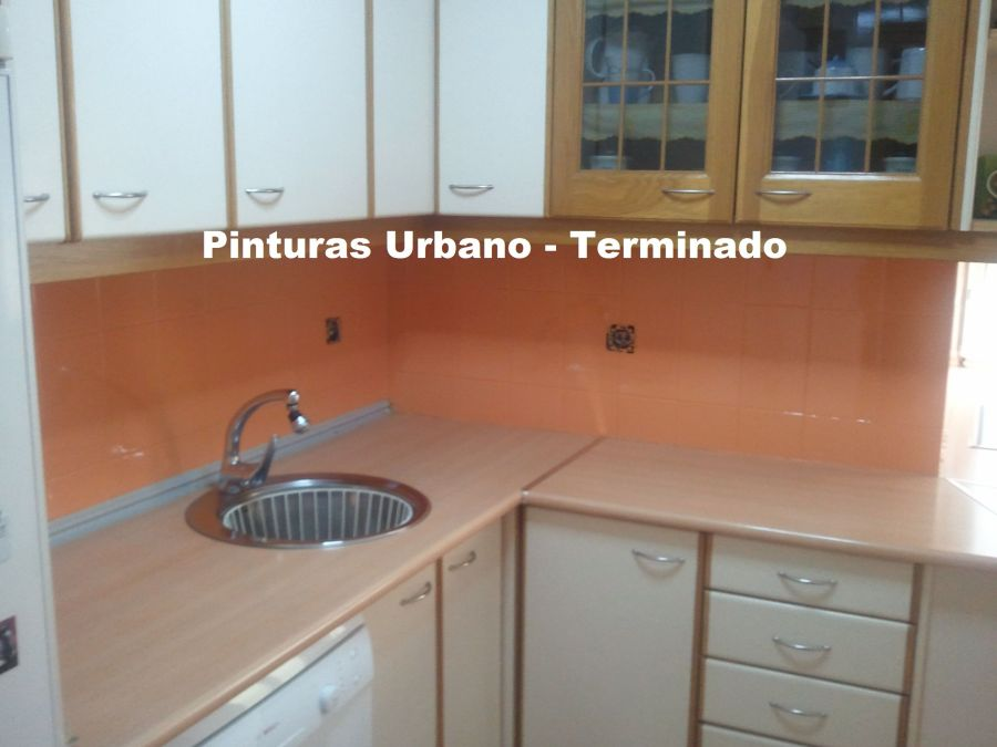 Esmalte azulejos color naranja teja 5