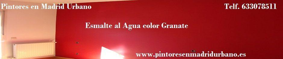 Pintores en Madrid - Esmalte al agua color granate