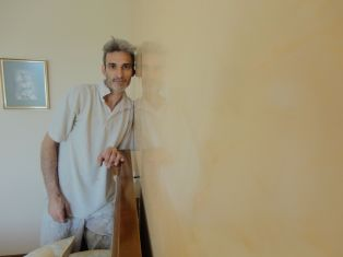 Estuco Veneciano Espatuleado con Veteado y Cera Kepi color Crema (21)