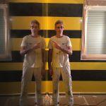 Estuco Veneciano Original a rayas amarillas y negras Borussia Dortmund (12)