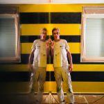 Estuco Veneciano Original a rayas amarillas y negras Borussia Dortmund (71)