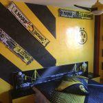 Estuco Veneciano Original a rayas amarillas y negras Borussia Dortmund Decoracion (11)