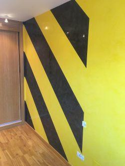 Estuco Veneciano Original a rayas amarillas y negras Borussia Dortmund - Terminado dia (6)
