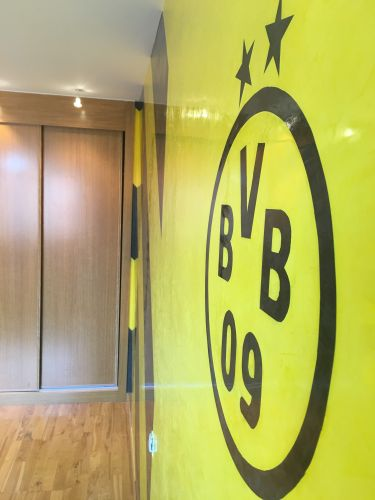 Estuco Veneciano Original a rayas amarillas y negras Borussia Dortmund - Terminado dia (7)