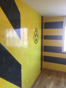 Estuco Veneciano Original a rayas amarillas y negras Borussia Dortmund - Terminado dia (8)