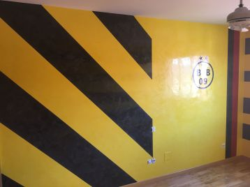 Estuco Veneciano Original a rayas amarillas y negras Borussia Dortmund - Terminado dia (9)