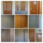 Lacado de puertas Antes y Despues - COLLAGE