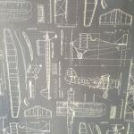 Plastico Blanco y Papel Pintado Dibujo Aviones (3)