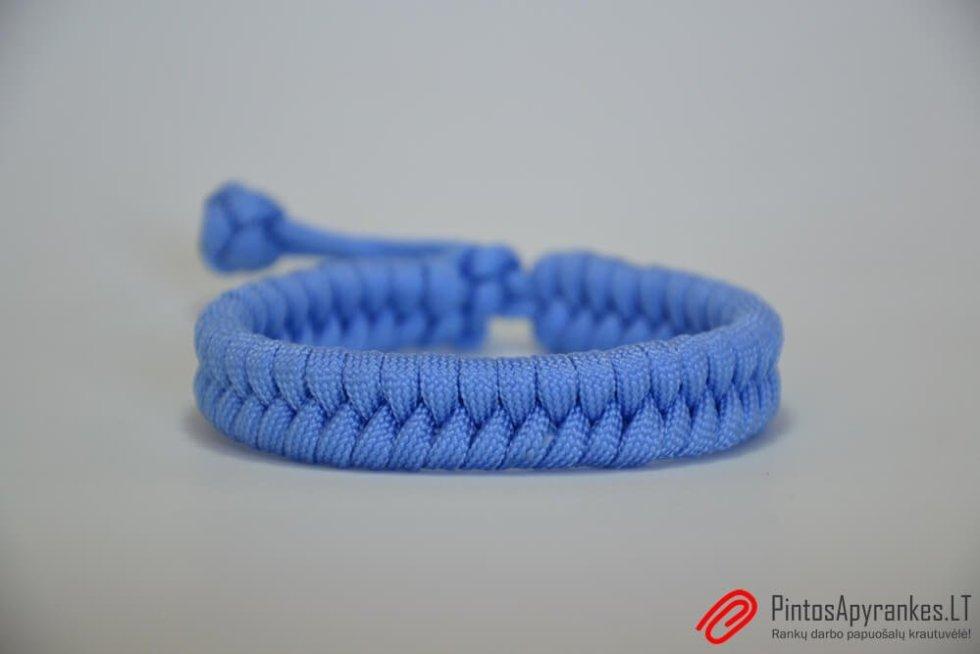 """Paracord apyrankė """"Fishtail Blue"""""""
