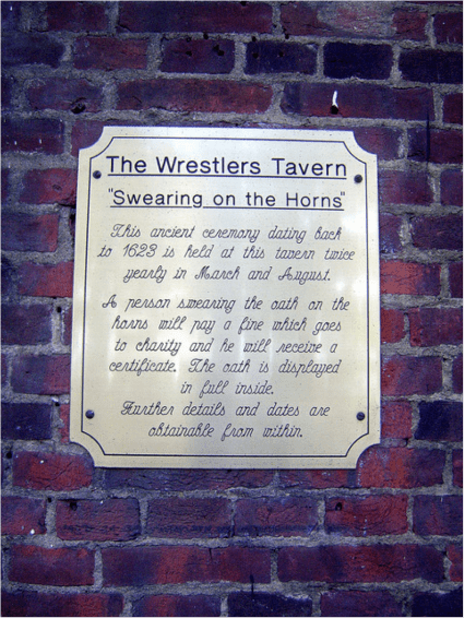 The Tradition of Swearing On The Horns at The Wrestlers Tavern