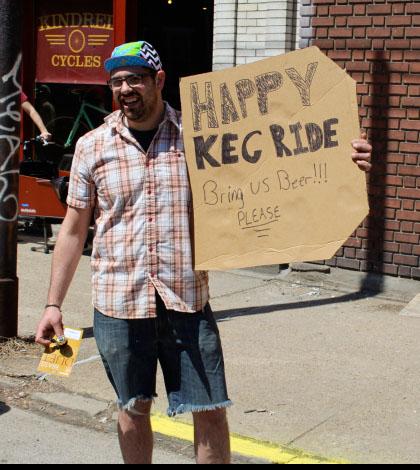 Pedal Pale Ale Keg Ride 2014, Pittsburgh PA
