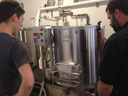 Shaun Yasaki, Platform's Brewmaster and Zac Roth of Ferndock Brewing Company