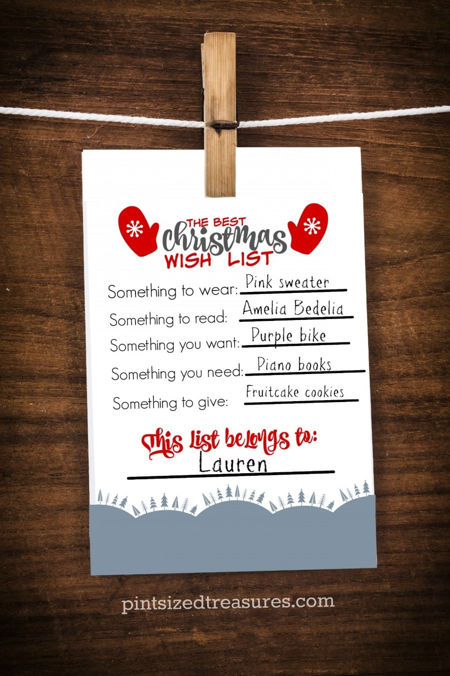 The Best Printable Christmas Wish List For Kids Pint Sized Treasures