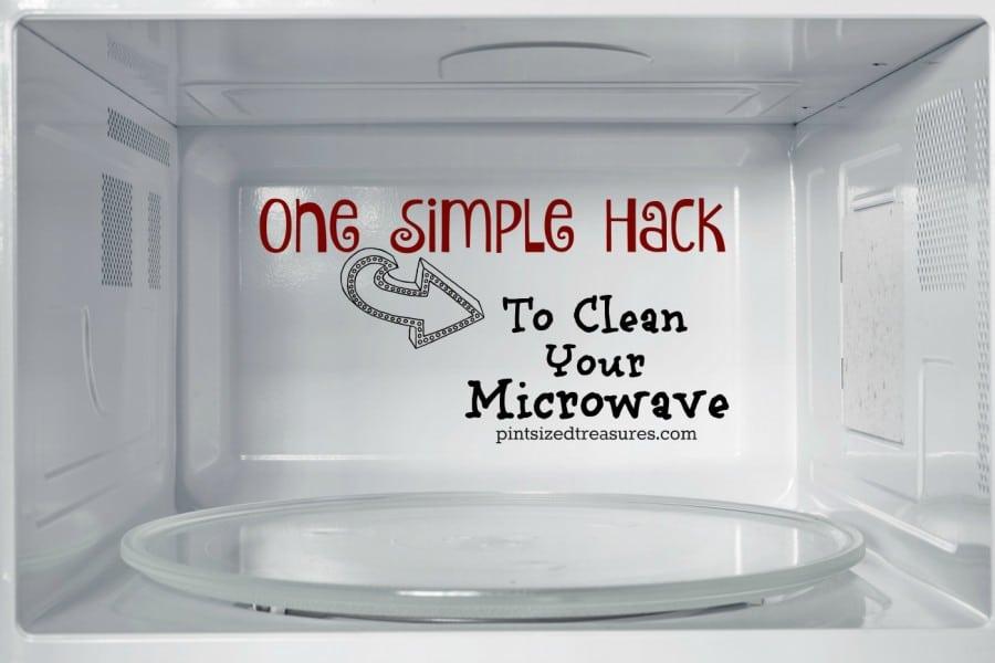simple hack to clean microwave
