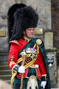 A band sergeant-major in the Royal Regiment of Scotland