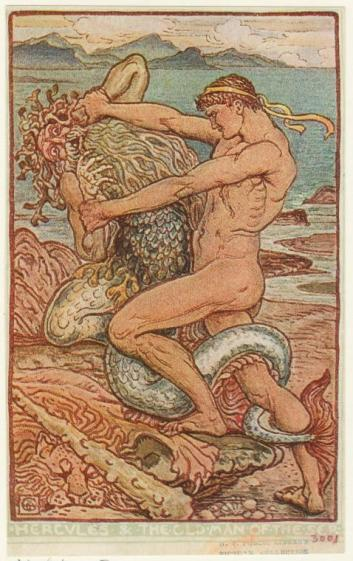 Hercules_&_the_old_man_of_the_sea_(Walter_Crane,_1910)