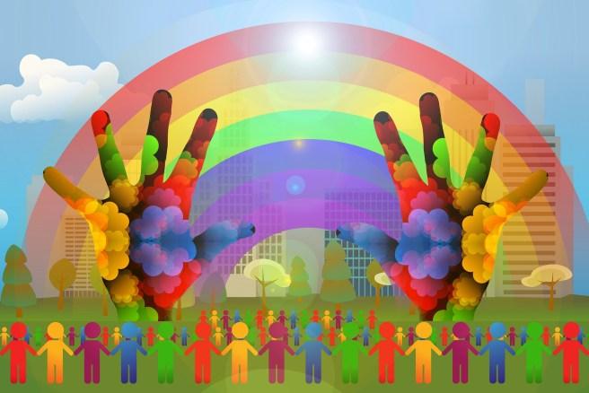 diversity rainbow (including re pronouns)