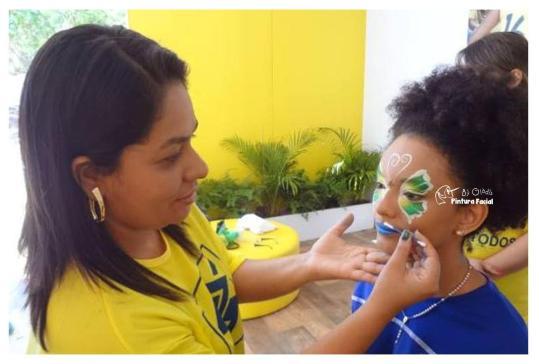 PINTURA FACIAL BY GLADIS + COPA + BRASIL _ TORCIDA + MAQUIAGEM + TORCEDOR + 2014 + BRASIL + SÃO PAULO + CAMPINAS (20)
