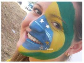 PINTURA FACIAL BY GLADIS + COPA + BRASIL _ TORCIDA + MAQUIAGEM + TORCEDOR + 2014 + BRASIL + SÃO PAULO + CAMPINAS (3)