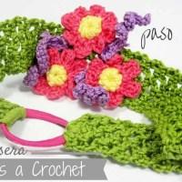 Diademas Tejidas a Crochet con Flores - Vinchas y Cintillos