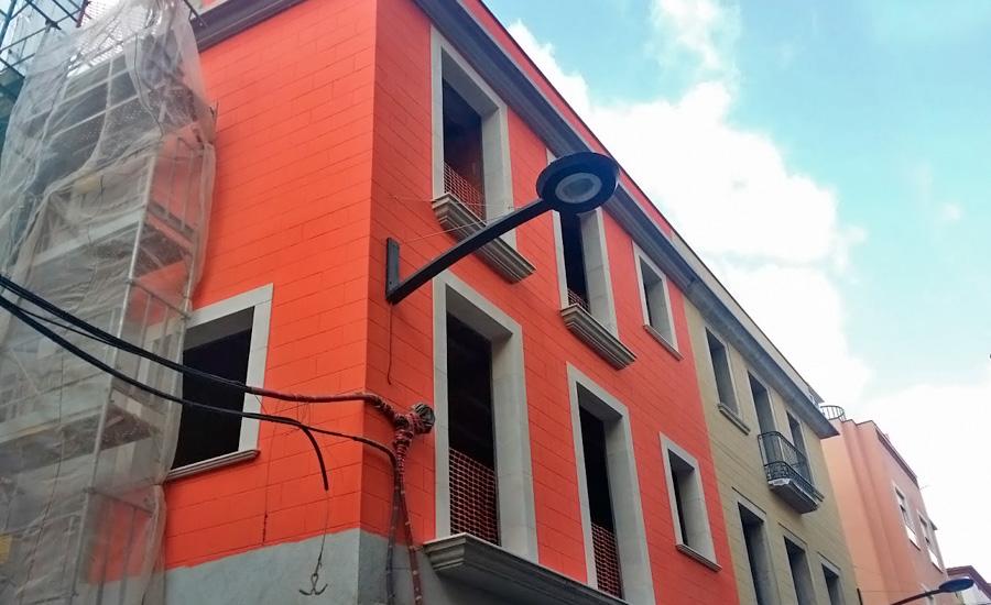 Rehabilitación de fachadas - sistema SATE - revestimiento de fachadas económico