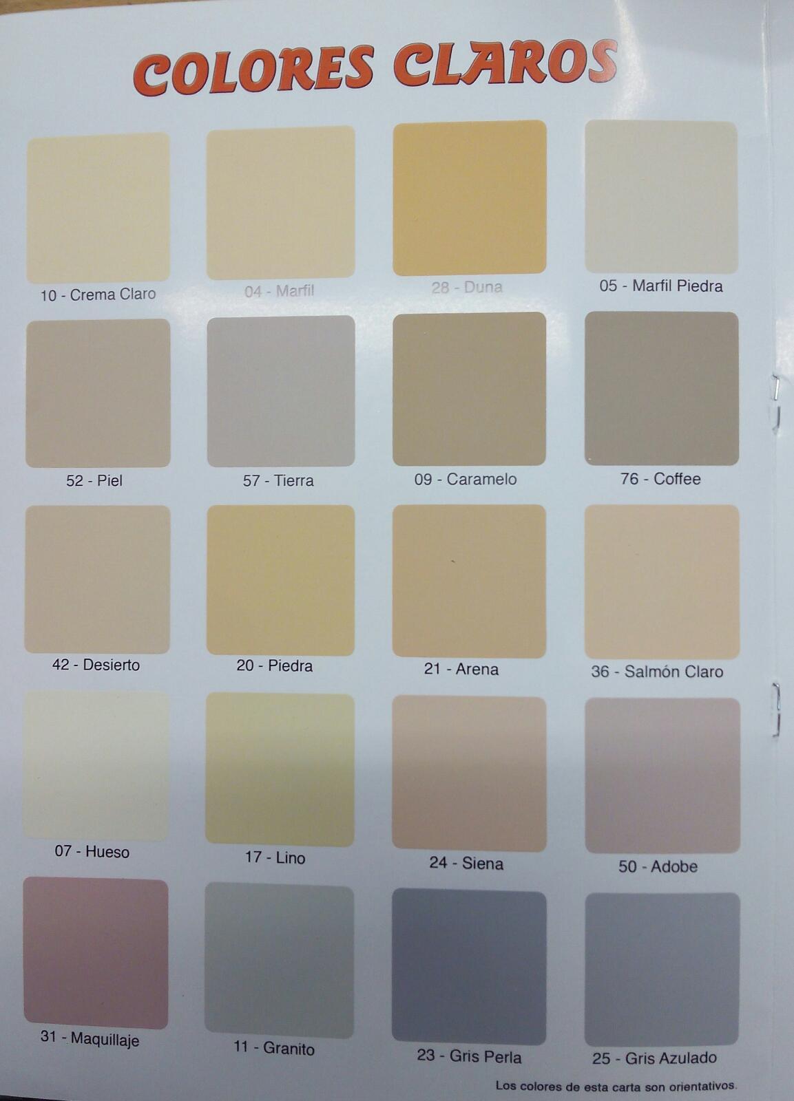 Paleta de Colores  Cartas de Colores NCS RAL Pantone