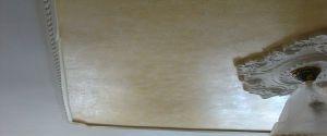 Estuco Veneciano Color Amarillo con Cera desgastada