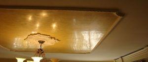 Estuco Veneciano Color Amarillo con Cera Gel