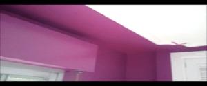 Lacado de Paredes en Color Morado