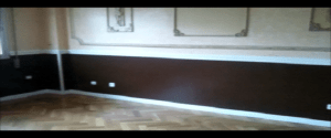 Estuco Color Salmón en Salón con fondo blanco