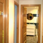 Esmalte color marron grisacio en pasillo de Vicalvaro 5