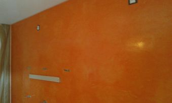 Estuco Veneciano Veteado Color Naranja (18)