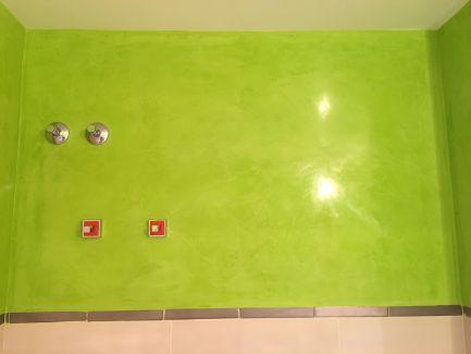 Estuco Veneciano Verde en Paredes de Wc (4)