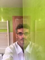 Reflejos sobre estuco veneciano verde paredes wc (3)
