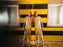 Estuco Veneciano Original a rayas amarillas y negras Borussia Dortmund (69)