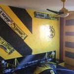 Estuco Veneciano Original a rayas amarillas y negras Borussia Dortmund Decoracion (12)