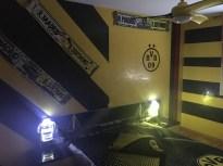 Estuco Veneciano Original a rayas amarillas y negras Borussia Dortmund Decoracion (8)