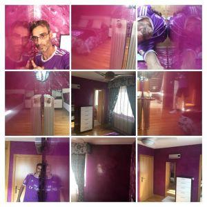 Estuco Veneciano Violeta en Dormitorio 1 - COLLAGE