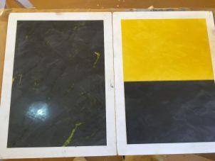 Muestras de Estuco Negro - Amarillo (2)