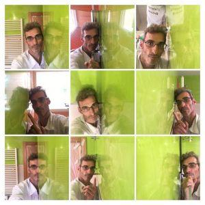 Reflejos sobre estuco veneciano verde paredes wc (2) - COLLAGE