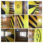 Estuco Veneciano Original a rayas amarillas y negras Borussia Dortmund - Terminado dia (2)-COLLAGE