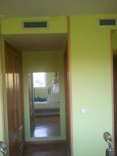 dormitorio verde oscuro y verde claro 5