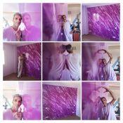 Reflejos Sobre Estuco Marmoleado Violeta - COLLAGE