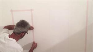 Colocacion de cinta tesa sobre el blanco