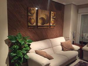 Estuco Marmoleado a 2 colores Maroon y Chocolate con decoracion (1)