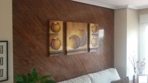 Estuco Marmoleado a 2 colores Maroon y Chocolate con decoracion dia (1)