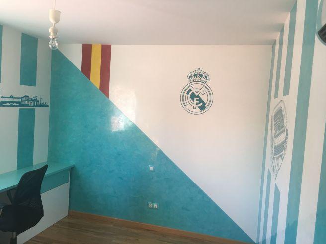 Estuco Veneciano Real Madrid con vinilos terminado (mañana) (16)