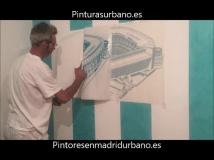 Instalando Vinilo Santiago Bernabeu 2