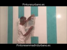 Instalando Vinilo Santiago Bernabeu 3